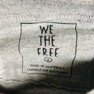 Free People Sweaters - Free People Grey Cropped Long Sleeve